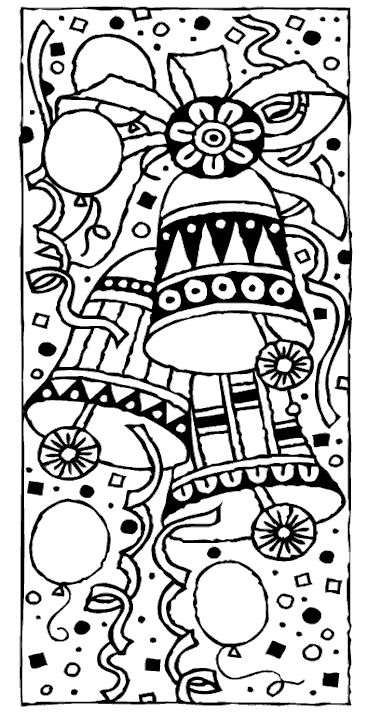 free christmas coloring page bells