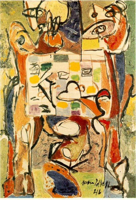 Jackson Pollock - The Tea Cup, 1946