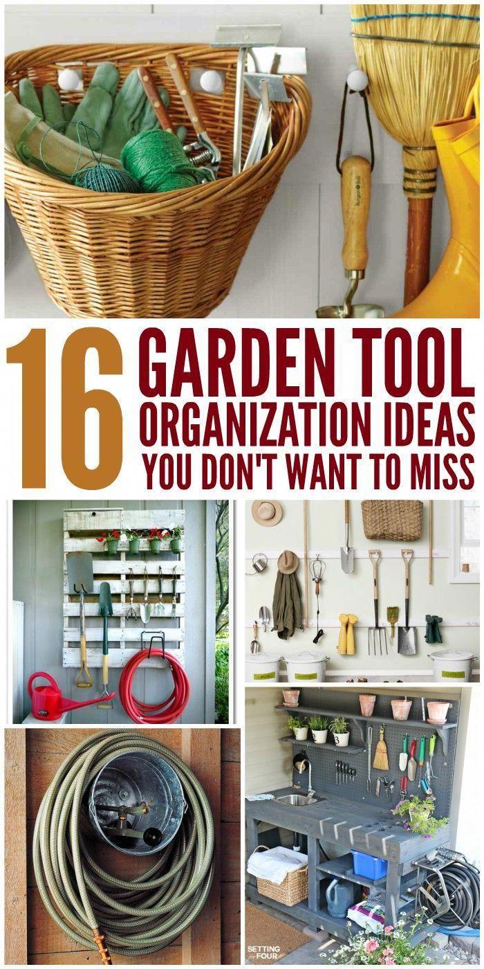 genius garden tool organization ideas shed plans pinterest