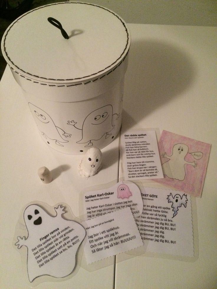 Spökburk! Sjung tillsammans med spökena. Spökramsor och sångkort.