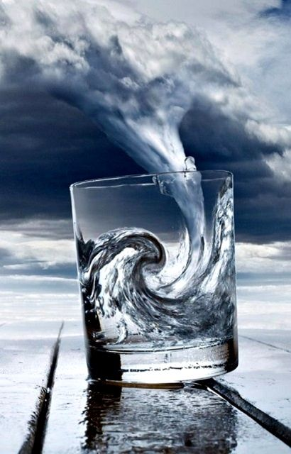 Wave in a glass - it looks like theres a massive wave in the cup