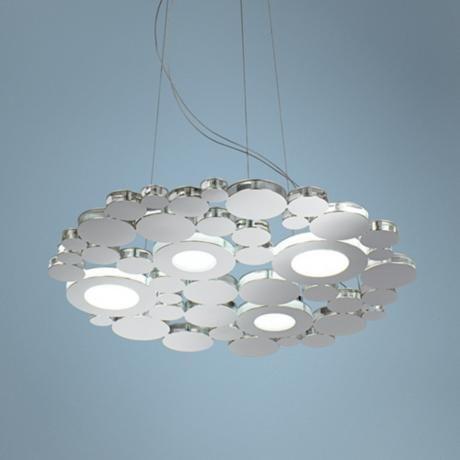 """Arlee I 23 1/2"""" Wide Stainless Steel LED Pendant Light -"""