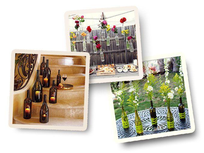 Te compartimos 7 ideas para reutilizar botellas de vino vacías y decorar tus espacios.