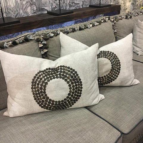 Cushions in Atlantic and sofa in Felt So Good.