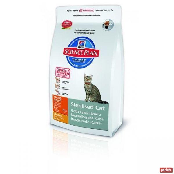 Hill's Young Adult Sterilized Kısırlaştırılmış Tavuklu Yetişkin Kedi Maması 3,5 Kg