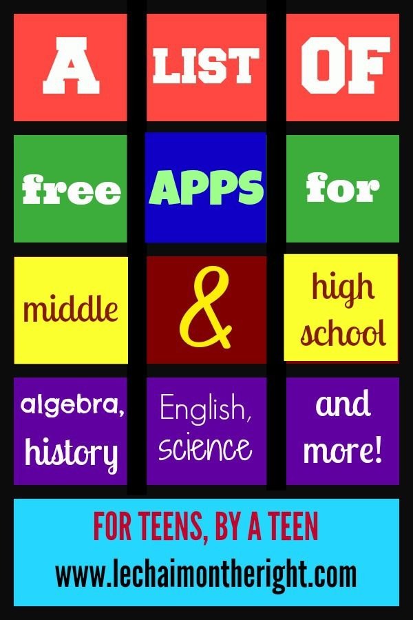Free Apps For Middle and High School Le Chaim (on the