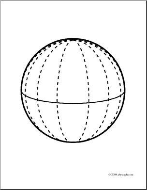 sphere geometric figurese Colouring
