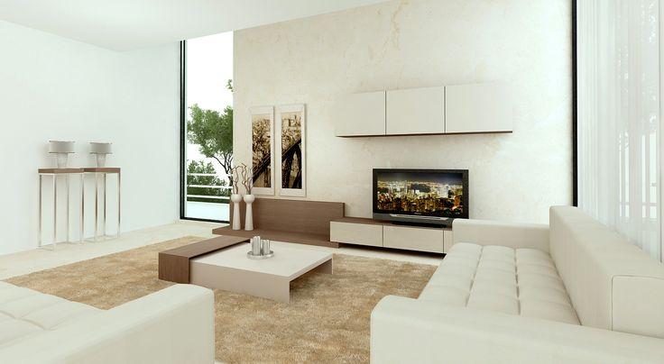Aparador * Estrutura lateral * Molduras parede * Composição armários * Mesa de centro * Composição mesas apoio