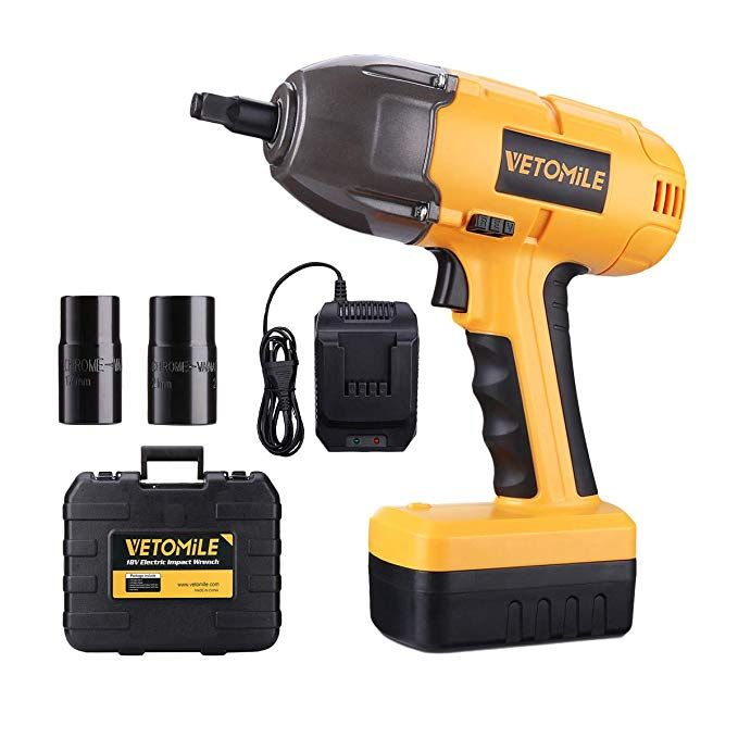 Vetomile 18v Cordless Impact Wrench Kit 1 2 Inch High Torque Compact Electric Driver Tool Kit With Rechargeable Lit Impact Wrench Electric Impact Wrench Wrench