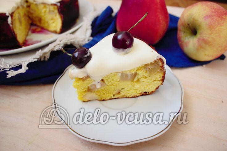 Шарлотка со взбитыми сливками #шарлотка #пироги #яблочныйпирог #сладкаявыпечка #рецепты #деловкуса #готовимсделовкуса