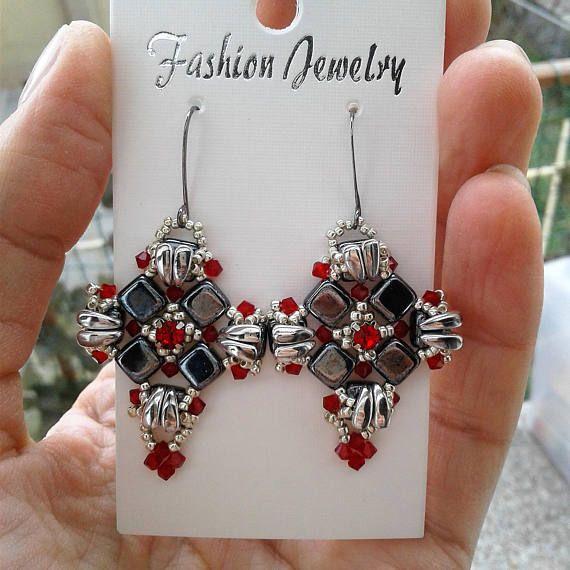 A New Flame Earrings Tutorial/Earrings Pattern/ Schema