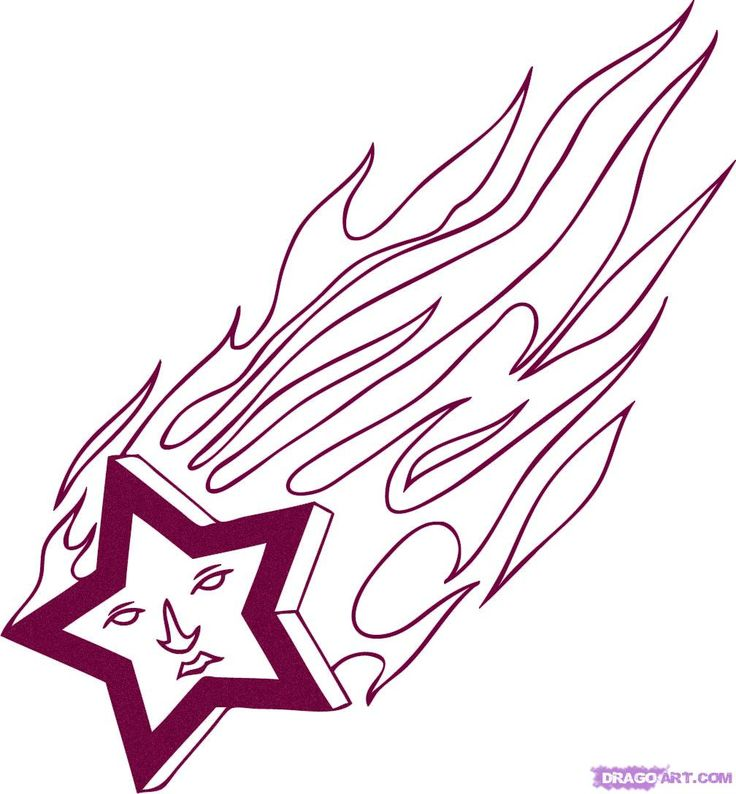 Free Star Drawings, Download Free Clip Art, Free Clip Art ... |Shooting Flames Drawings