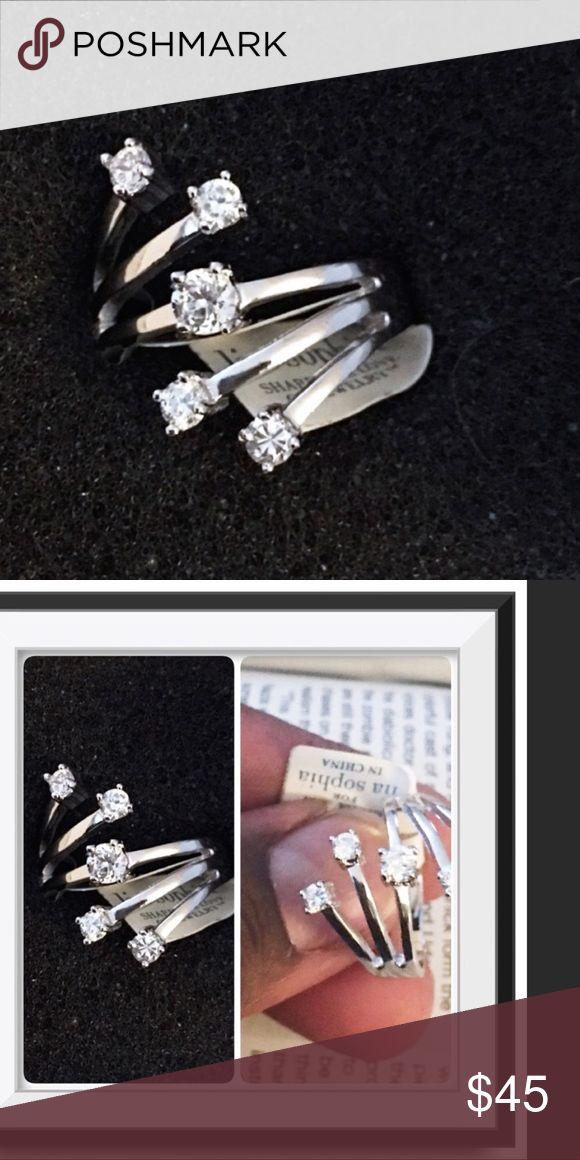 Lia Sophia Silver Tone CZ Ring Brand New in Box . Lia Sophia engraved Never worn Size  9 in original Box Jewelry Rings
