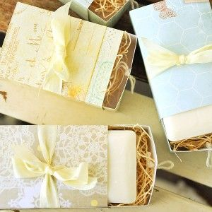 FREE how-to Soap Box Packaging Project by Vanessa Spencer on the Stampington & Co site. Features the Where Women Cook Collection of die cuts. #sizzix #project #soap #box #paper #craft