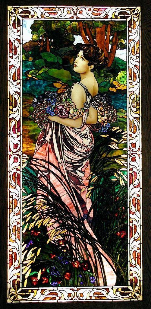 Stained Glass - Summer - Alphonse Mucha