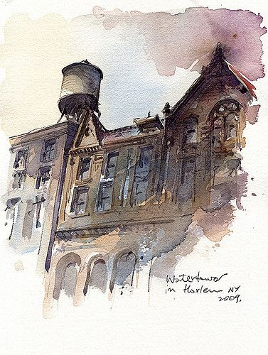 Akvarel.. - Page 14 486cd7dbc29c0c543194ba1000a55d09--watercolor-architecture-watercolor-art