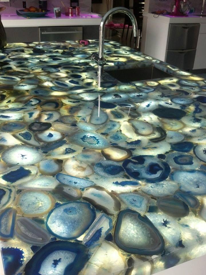 Agate countertop....Elegant Granite and Marble NY www.elegantstone.com