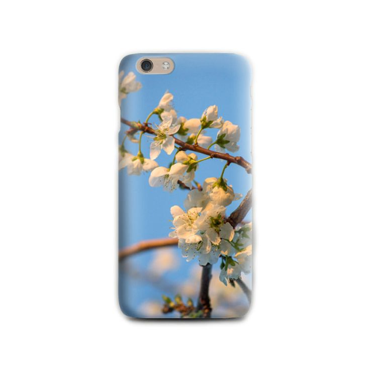 Spring iPhone 6 case Floral iPhone 5 Silicone Blue and White Phone case Gift for her iPhone cover Romantic Birthday gift for wife for mommy by LightBlueCases on Etsy