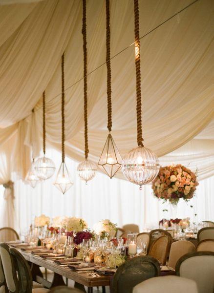 Hochzeits Dekoration: Geometrische Formen Für Das Bankett