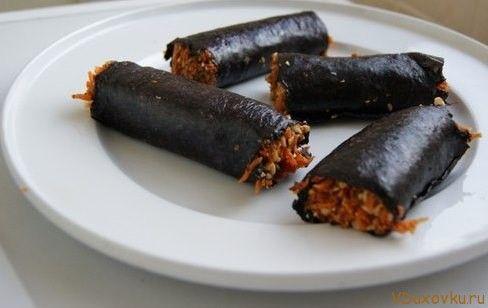 Сыроедческие и вегетарианские рецепты / Сыроедческие роллы по-индийски / Овощные рецепты