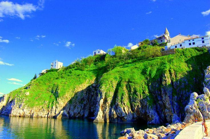 Krásný pohled na Chorvatský ostrov Krk