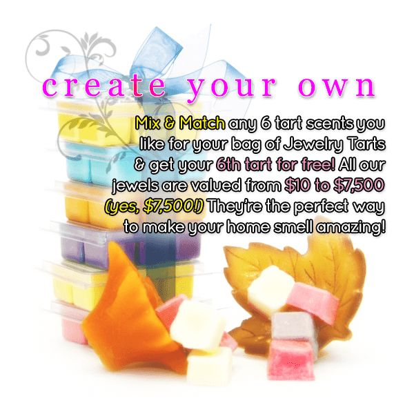 Create Your Own Custom 6 Jewelry Tart Bag - Pick SIX of your favorites!
