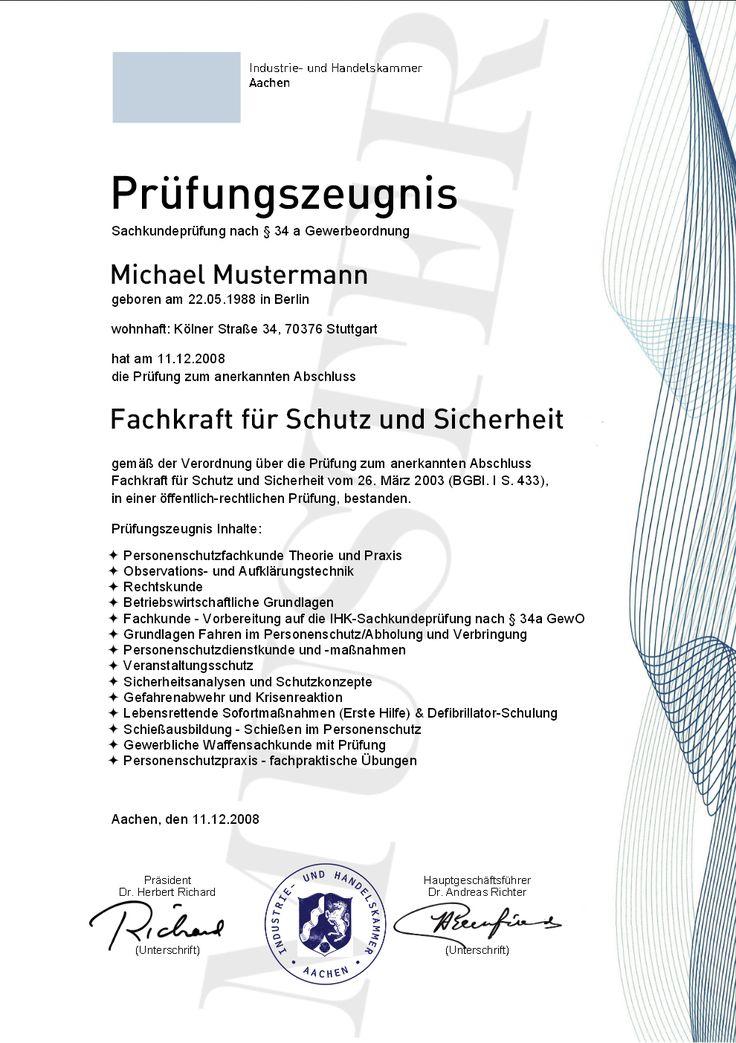 11 best IHK Geprüfte Personenschutzfachkraft, Geprüfte Schutz- und ...