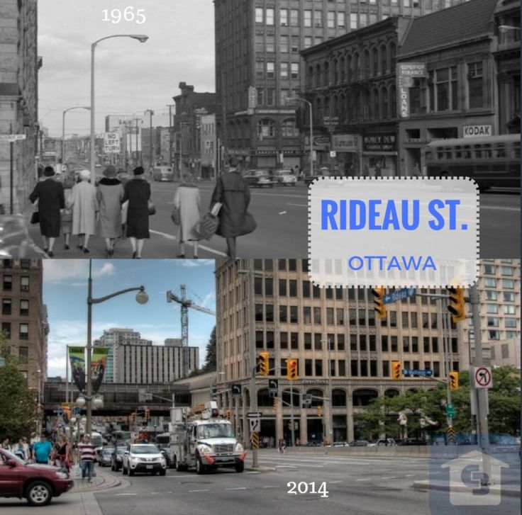 Going back ... Ottawa The difference between 1965 and  2014 on Rideau St (I think it's near Mackenzie)? I certainly would go back, most likely because I would be soooo much younger!