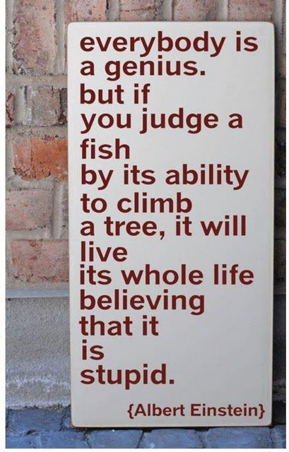 I think this quote speaks to the twice exceptional child perfectly. If parents and teachers always harp on the disability and what they cannot do, they begin to feel discouraged and frustrated. Seeing the abilities of the student and drawing attention to their strengths encourages students and helps to ensure their success.