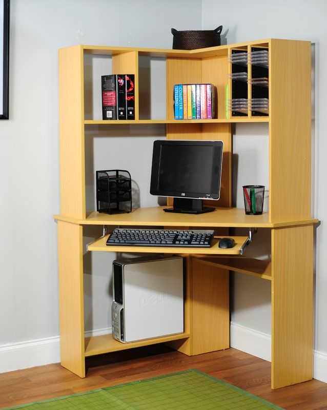 Friedman Corner Desk With Hutch Office Workstations Computer Armoire