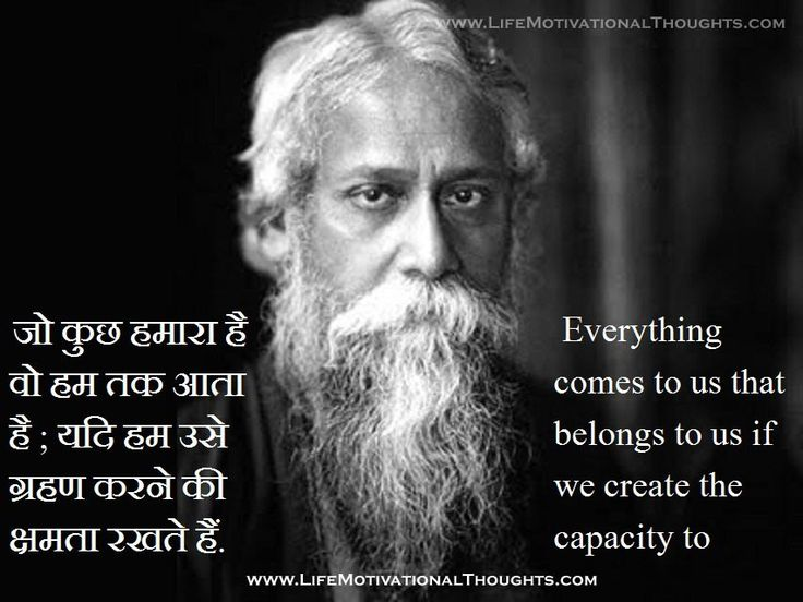 Rabindranath Tagore Quotes, Thoughts English With Meaning