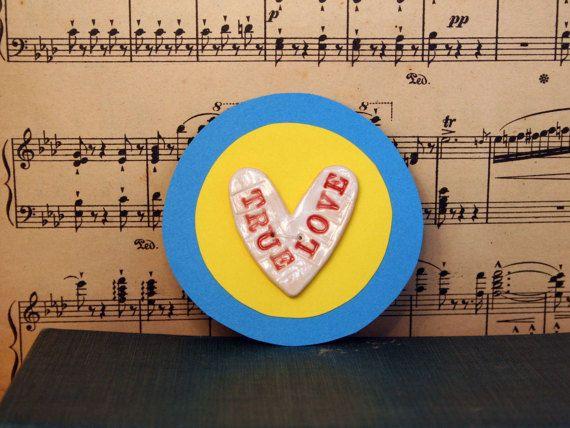 Wedding Favour True Love Sweet Heart Ceramic by MagicalTimelessArt