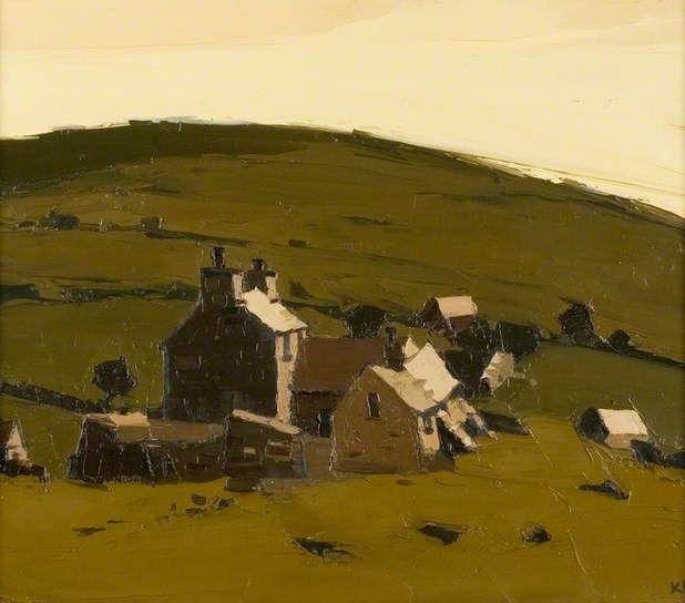 Deserted Farm, Llanrhuddlad, Sir Kyffin Williams, oil on canvas