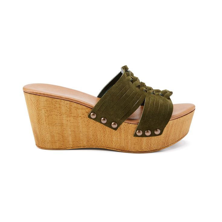 Introducing Stitch Fix Shoes: Suede Wedge Slides