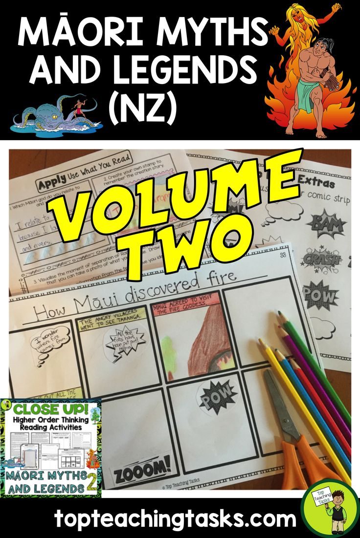 Volume Two of our Maori Myths and Legends Reading Resource includes FOUR Year Five and Six Fiction passages with six engaging text dependent higher order thinking tasks - perfect for reading comprehension! These link directly to the New Zealand Curriculum