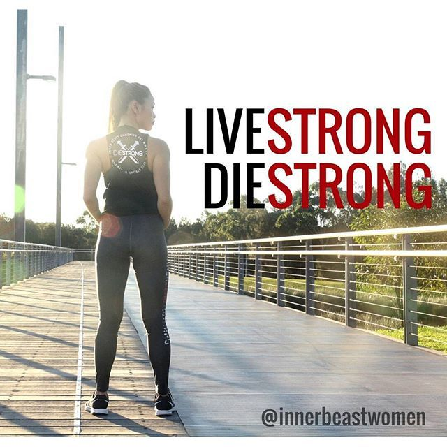 Keeping strength is a lifelong journey. Live strong, die strong.   @innerbeastclothing