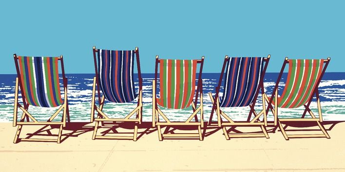 Searching for five deckchairs