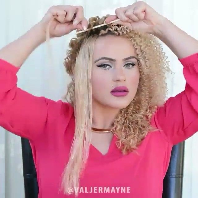 Create tight spiral curls @valjermayne #dollhousedubai by dollhousedubai