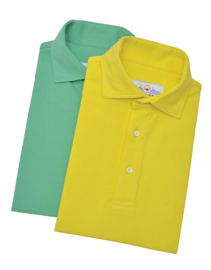 Luxire Light Yellow and Fern Green Pique T- Shirts