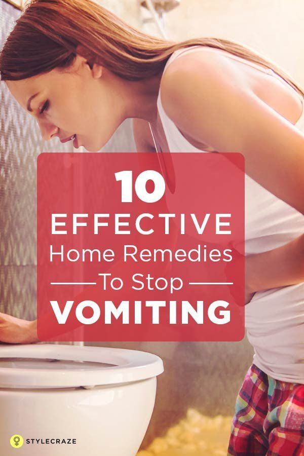 14 Effective Home Remedies To Stop Vomiting