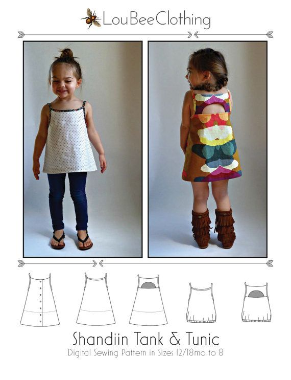SHANDIIN Tank & Tunic PDF Sewing Pattern for por LouBeeClothing