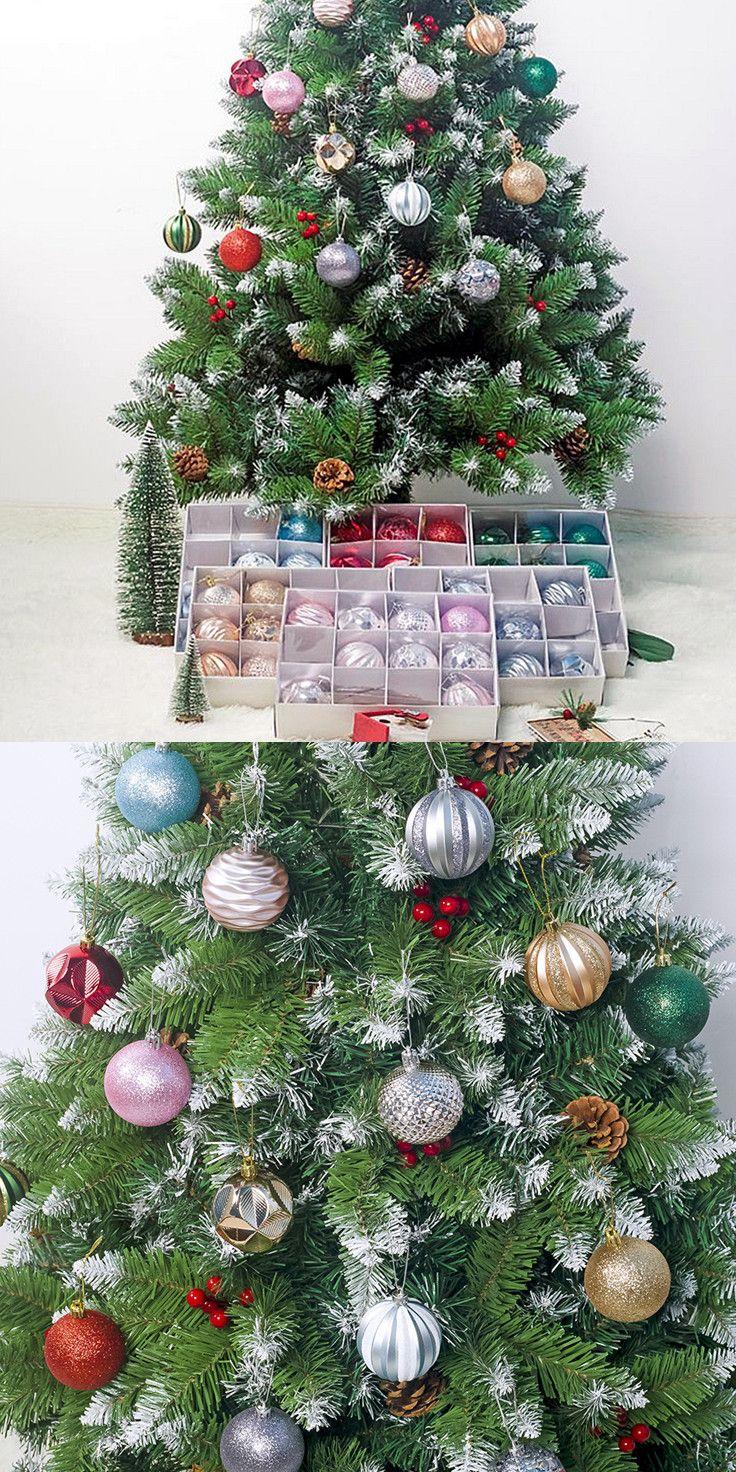 12pcs 6cm Christmas Tree Decor Balls Xmas Tree Hanging Bauble Ornaments Christmas Tree Decorations Christmas Tree Tree Decor