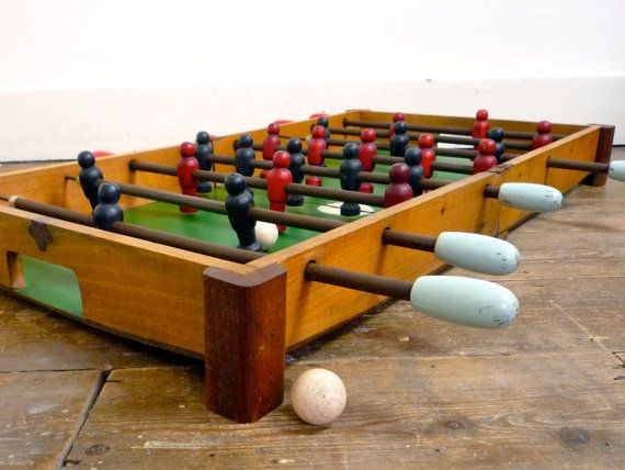 1950s Foosball Table  Folding Table Top Football by CrolAndCo on Etsy