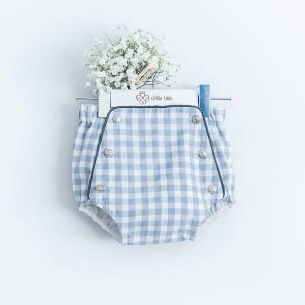Light Blue Squared Shorts | Chubby Angel