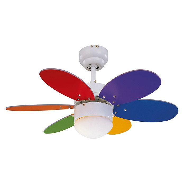 Sulion Ventilador de techo Rainbow LED (76 cm, 12 W, Clase