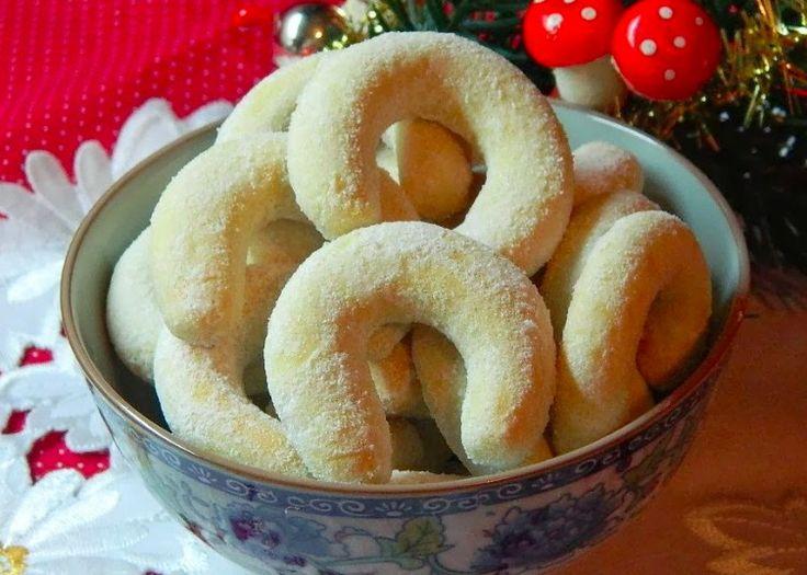 Starodávné vanilkové rohlíčky s mandlemi