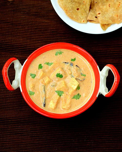 Shahi paneer recipe - Rich n creamy side dish for roti,naan & kulcha !