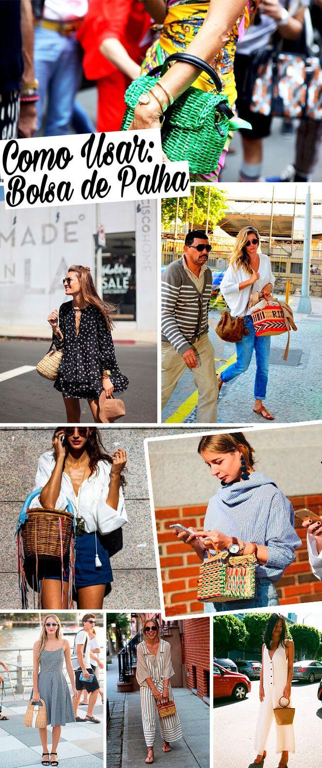 Bruna Unzueta dá dicas de como usar bolsa de palha no seu look do dia