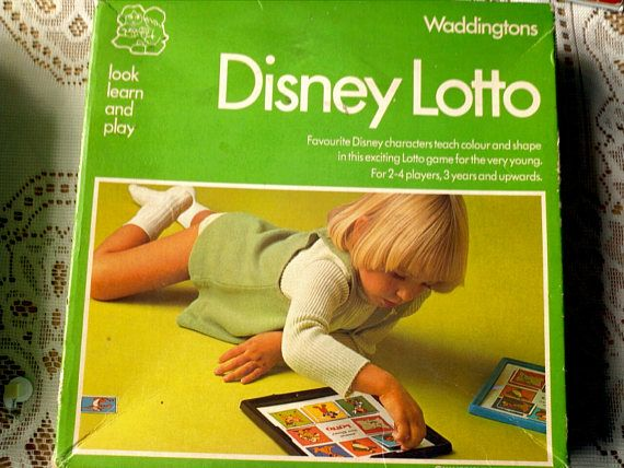 Vintage 1977 Disney Waddington Lotto game collecters item
