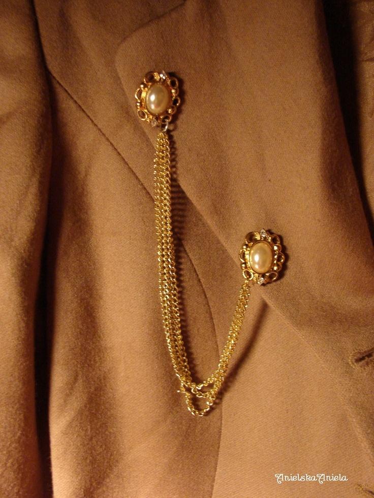 DIY..TUTORIAL....Collar Brooch with Chain...broszka łańcuchowa .... - Anielska Aniela-DIY,Tutorial,szycie, przeróbki, inspiracje,biżuteria,vintage,retro